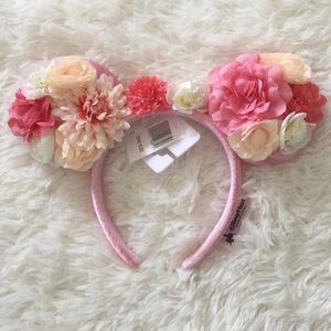 Flowers and Garden Satin Disney Minnie Mouse Ears